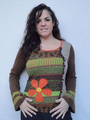 Imagen de Blusa otoño primavera hippie informal
