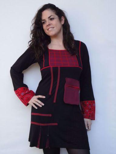 Imagen de vestido étnico abstracto (varios colores)