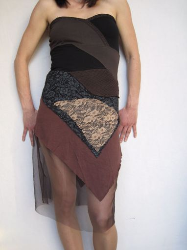 Imagen de Vestido patchwork gasa (elige color)