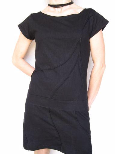Imagen de Vestido algodón liso fruncido