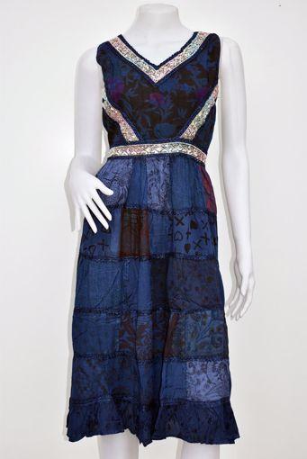 Imagen de Vestido Zingaro azul (138)