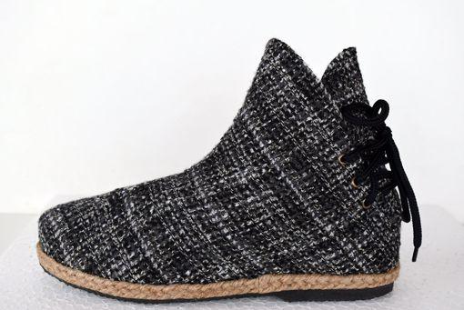 Imagen de Botín algodón jazpeado negro