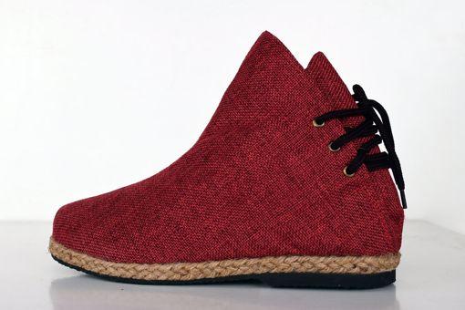 Imagen de Botín algodón rojo