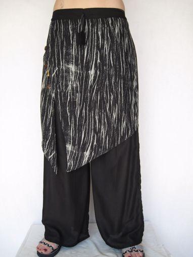 Imagen de Pantalón falda rayón difuminado