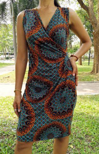 Imagen de Vestido fruncido lateral verde