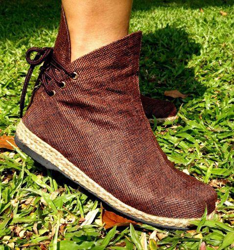 Imagen de Botín algodón marrón
