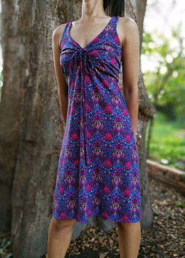 Imagen de Vestido estampado flores azul