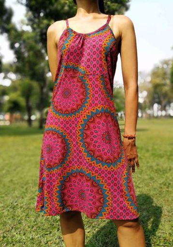 Imagen de Vestido estampado lagrima carmín