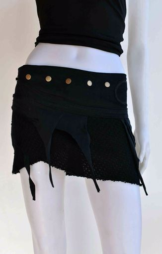 Imagen de Minifalda gasa mediana negro