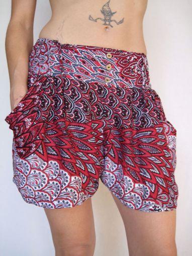 Imagen de Mini pantalón rayon rojo