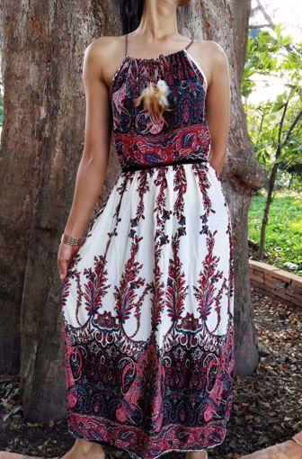 Imagen de vestido plumas largo