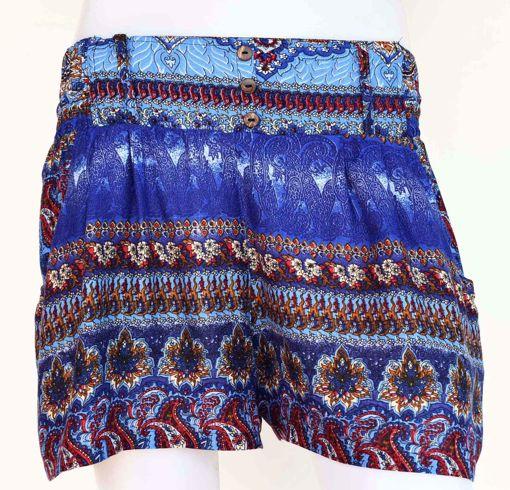Imagen de Mini pantalón rayon flores