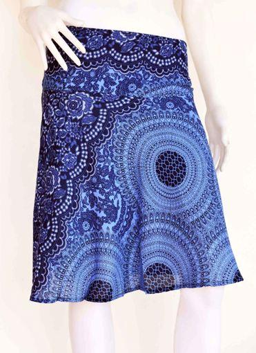 Imagen de Falda corta rayon azul