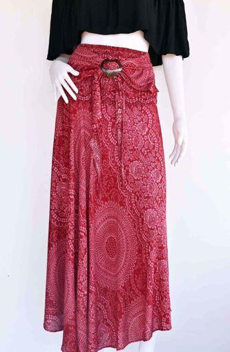Imagen de Falda vestido coco rayón rojo