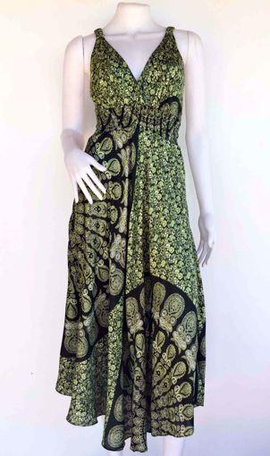 Imagen de Vestido rayón largo verde